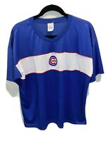 Vintage Chicago Cubs Majestic Blue White Jersey Pullover XXL 2XL Baseball MLB