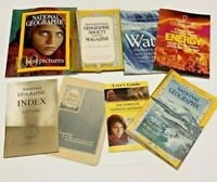 Lot of 7 National Geographic Books Magazines Vintage Modern Various Mixed Lot