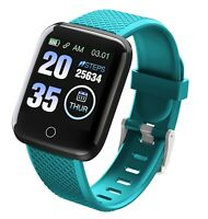TimeTech Smart Watch Grün Silikon Damen Herren Uhr Digital X2440003004