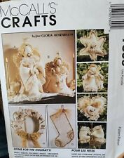 McCall's Crafts Gloria Rosenbaum pattern 7809 Wreath, Stockings, Angels uncut