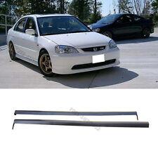 For 01-03 Honda Civic 2/4dr RS Style Black PU 2pcs Side Skirts Spoiler Bodykit