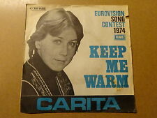 "SINGLE 7"" / CARITA: KEEP ME WARM | EUROVISION 1974 (EMI, BELGIUM)"
