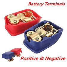 Quick Release Battery Terminals Clamps 12V Pair Car Caravan Motorhome Terminal