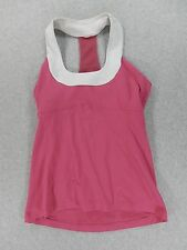 LuLuLemon Yoga Running Training Tank (Womens Size 8) Pink/White