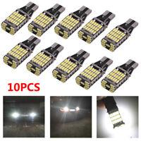 10x 6000K White 45 SMD 4014 Error Free LED  T15 W16W Car Reverse Back Light Bulb
