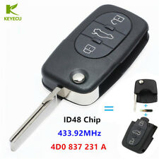 3 Button Remote key Fob 433MHZ With ID48 Chip 4D0 837 231 A for Audi A3 A4 A6