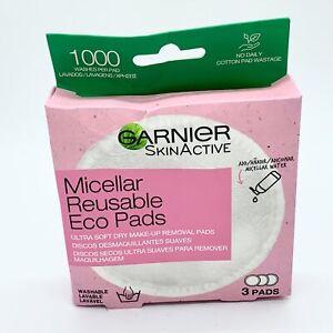 Garnier Micellar Reusable Make-up Remover Eco Pads - NEW - Damaged Box #2090