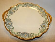 Rare T&V Limoges Signed Dated 4-24-1916 Art Nouveau Platter Plate FREE SHIPPING!