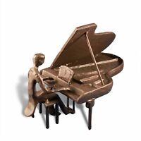 Cast Iron Piano Man - Metal Figurine Sculpture - Grand Piano Player
