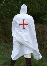 Battle Merchant Umhang der Tempelritter Baumwolle Weiß Gewand Mittelalter LARP
