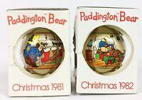 VTG 1981 & 1982 Christmas Paddington Bear Schmid Ornaments Limited Edition *NEW*