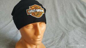 Harley Davidson logo beanie embroidery