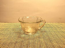 Vintage Indiana Depression Glass Lorain (Basket) Clear Pattern Cup