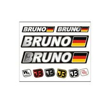 Bruno auto bicicleta motocicleta Kart casco conductor nombre Pegatina Sticker bandera