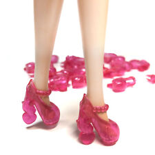 10 Pairs of Doll Shoes Crystal Pink Shoe For 11.5 inches Doll