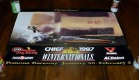 "NICE NHRA Drag Racing 1997 Poster 36""x24"" Winternationals Pomona Rocket Science"