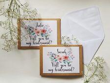 Will you be my bridesmaid - Personalised card - Wedding/Bridesmaid/Bridal Party
