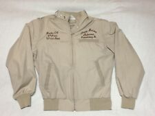 Vintage WestArk USA Racing Full-Zip Beige Jacket Mens XS Sleepy Hollow Motocross