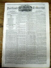 1851 newspaper with a VERY LONG detailed ESSAY describing HOMEOPATHIC MEDICINE