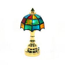 SA-DollsHouse DE310 Tischlampe Tiffany LED ohne Batterie 1:12 Puppenhaus NEU! #