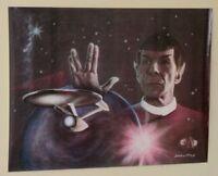 Vintage original 1982 Star Trek Mr Spock Leonard Nimoy 22 x 17 inch poster:1980s