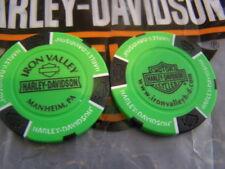 Harley  Neon Green & Black Poker Chip Iron Valley Harley Davidson Manheim, PA