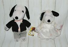 Snoopy And Belle Snoopy Says I Do Love You Wedding Plush Rare Lot