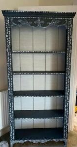 Beautiful Country Flower Bone Inlay Bookcase