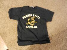 Vintage Ferris State Bulldogs Michigan NCAA Softball T-Shirt M