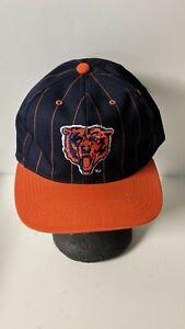 VINTAGE NFL CHICAGO BEARS EASTPORT SNAP BACK PIN STRIPE HAT