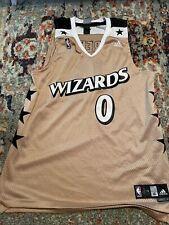 RARE VTG NBA Adidas Washington Wizards Gilbert Arenas Jersey SEWN Mens XL Gold 0