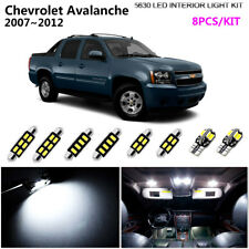 8Bulb Xenon White 6000K Interior Light Kit LED Fit 2007~2012 Chevrolet Avalanche