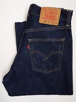 LEVI'S 522 JEANS MENS SLIM TAPERED LEG W31 L34 DARK BLUE STRAUSS LEVJ826