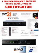Digiquest EVO3.1 Decoder HD COMBO Satellitare,Terrestre, App Web pronto Mediaset
