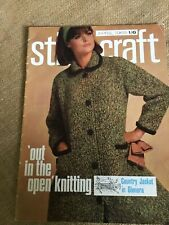 """Stitchcraft Magazine April 1965 """"Out In The Open Knitting"""""""