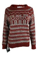ISABEL MARANT Etoile Red Nordic Style Mohair Blend Jumper (IT 44)