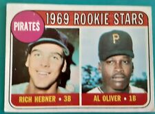 1969 Topps baseball card #82 Pittsburg Pirates Rookies Al Oliver & Rich Hebner