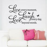LIVE LAUGH LOVE Quote Vinyl Decal Removable Art Wall Stickers Home Room Decor @T