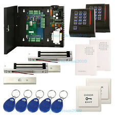 2 Door Access Control Lock Systems with 280kg Magnetic lock+Doorbell+RFID Reader