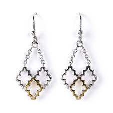 Jody Coyote Earrings JC0226 new Alhambra Collection ALH-0115-02 18 kt gold plate