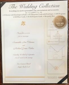 THE WEDDING COLLECTION PREMIUM PACK INVITATIONS AND ACCESSORIES
