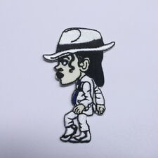 MOONWALK MICHAEL JACKSON KING OF POP EMBROIDERED IRON ON PATCH CAP FREE SHIPPING