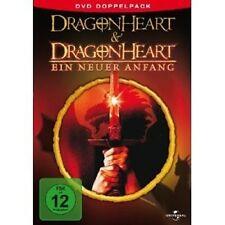 DRAGONHEART 1 & 2 - 2 DVD NEU DENNIS QUAID,DAVID THEWLIS,PETE POSTLETHWAITE