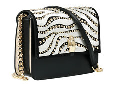 Roberto Cavalli Class GWLPCM 999 Milano Rmx 0 Black/White Medium Shoulder Bag