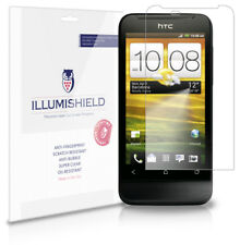 iLLumiShield Phone Screen Protector w Anti-Bubble/Print 3x for HTC One V