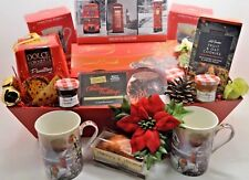 Mum & Dad Couples Christmas Large Tea Hamper Gift Box with Biscuits & Treats