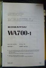 Komatsu Radlader WA 700-1 Werkstatthandbuch