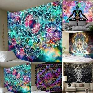 New Large Indian Wall Hanging Tapestry Hippie Mandala Bedspread Throw Decor Mats