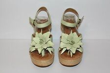 BORN ESPADRILLE LEATHER  WEDGE THONG  HEELS SANDALS WOMEN'S SIZE 7 M