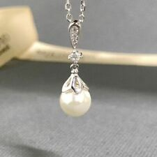MIKIMOTO New Day Night Teardrop Pearl White Gold Pendant Necklace